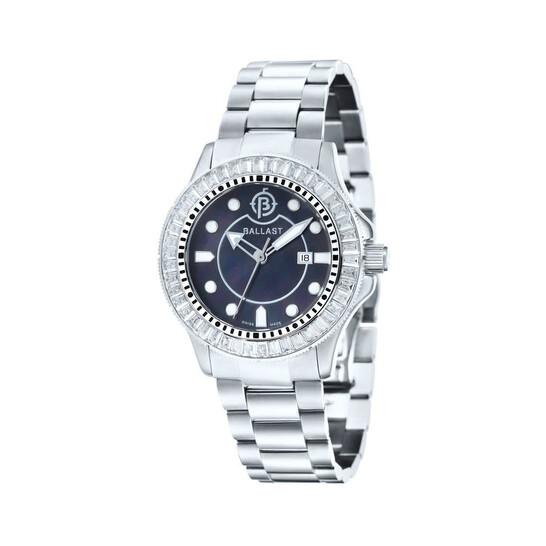 Ballast Vanguard Dark Mother of Pearl Stainless Steel Men's Watch BL-5101-11 | Joma Shop