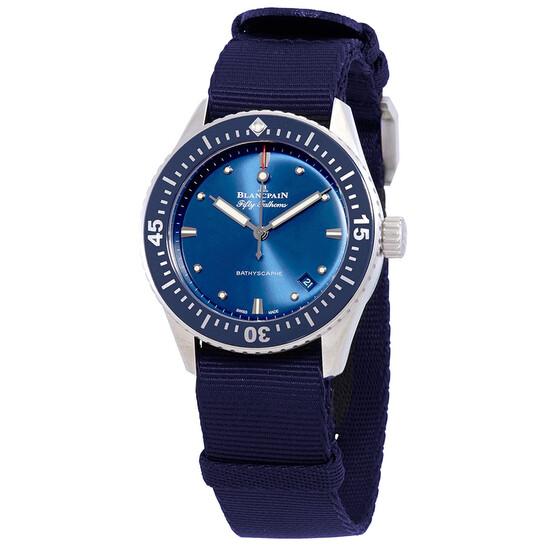 Blancpain Bathyscaphe Automatic Blue Dial Men'sWatch 5100-1140-NAOA   Joma Shop