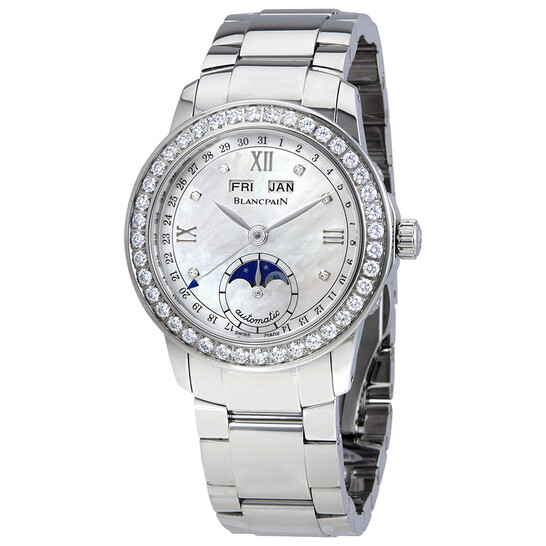 Blancpain Leman Mother Of Pearl Dial Automatic Ladies Watch 2360-4691A-71A   Joma Shop
