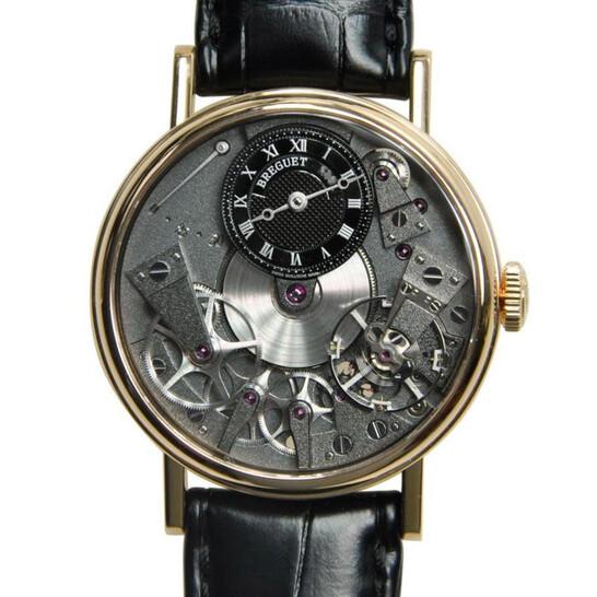 Breguet Tradition Black Skeleton Dial 18kt Rose Gold Black Leather Manual Wind Men Watch 7027BRG99V6   Joma Shop