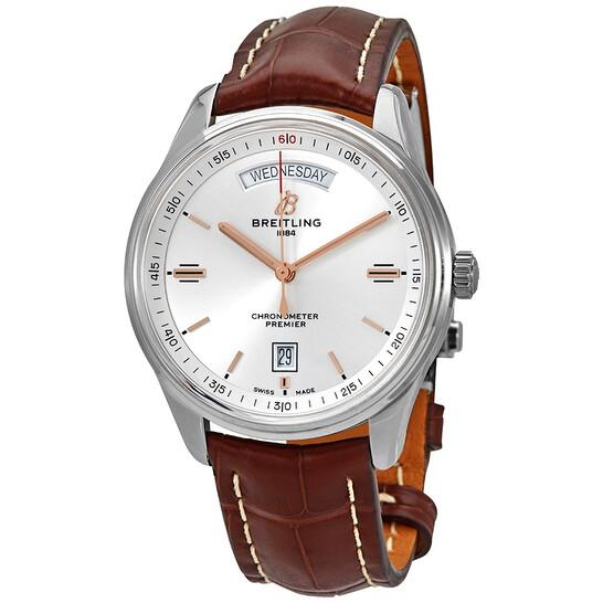 Breitling Premier Automatic Chronometer Silver Dial Men's Watch A45340211G1P1 | Joma Shop