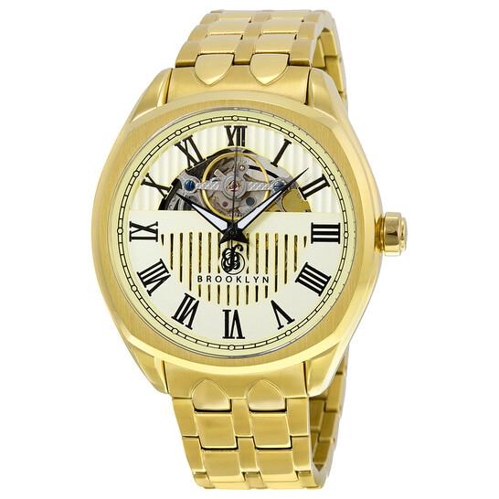 Brooklyn Watch Co. Brooklyn Dunham Skeleton Men's Automatic Ivory Dial Men's Watch | Joma Shop