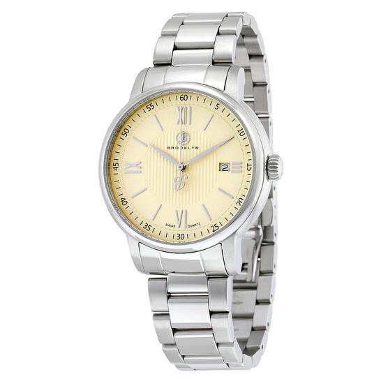 Brooklyn Watch Co. Brooklyn Livingston Classic Swiss Quartz Ivory Dial Men's Watch | Joma Shop