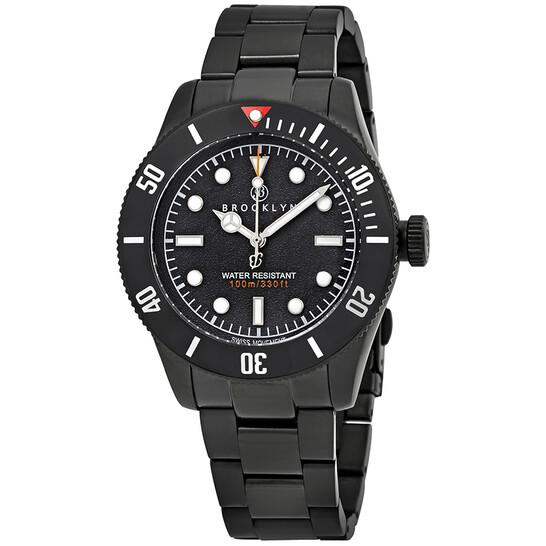 Brooklyn Watch Co. Black Eyed Pea Black Dial Men's Watch 306-A-11-BB-BLK   Joma Shop