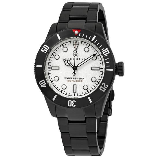 Brooklyn Watch Co. Black Eyed Pea White Dial Men's Watch 306-B-22-BB-BLK   Joma Shop