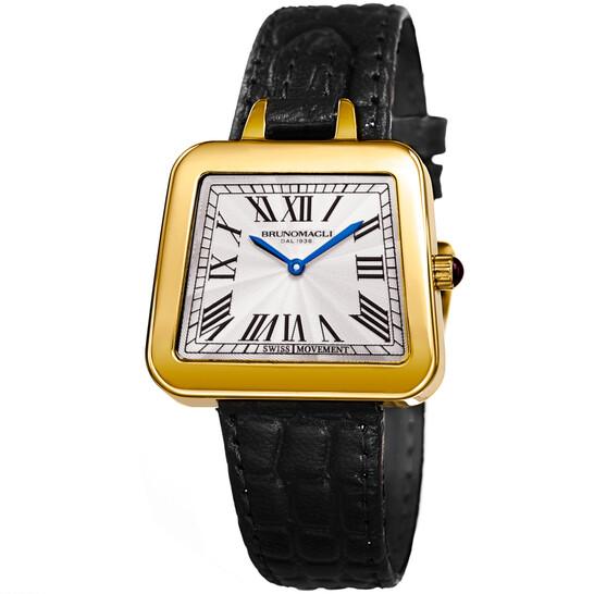 Bruno Magli Emma Quartz Silver Dial Trapezoid Ladies Watch 17.171141.GA   Joma Shop