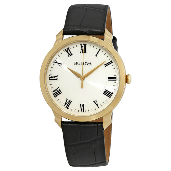 Bulova Classic White Dial Yellow Gold-tone Men's Watch 97A123   Joma Shop