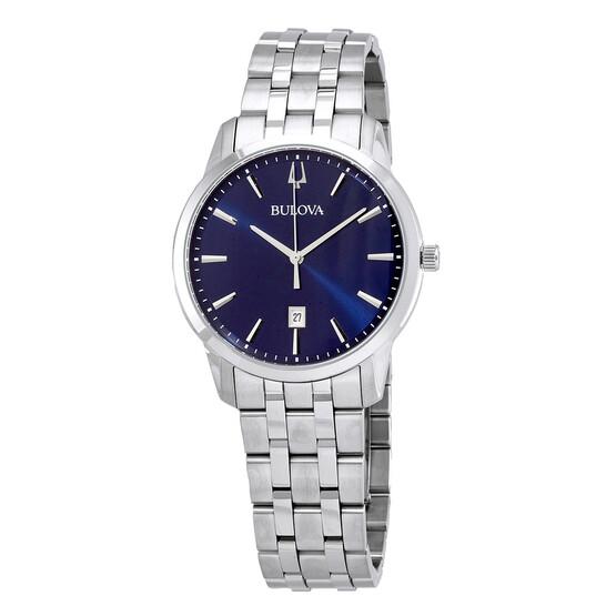 Bulova Sutton Quartz Blue Dial Men's Watch 96B338 | Joma Shop