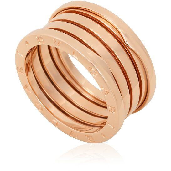 Bvlgari B.Zero1 18K Pink Gold 4-Band Ring, Brand Size 53 (US Size 6.5)   Joma Shop