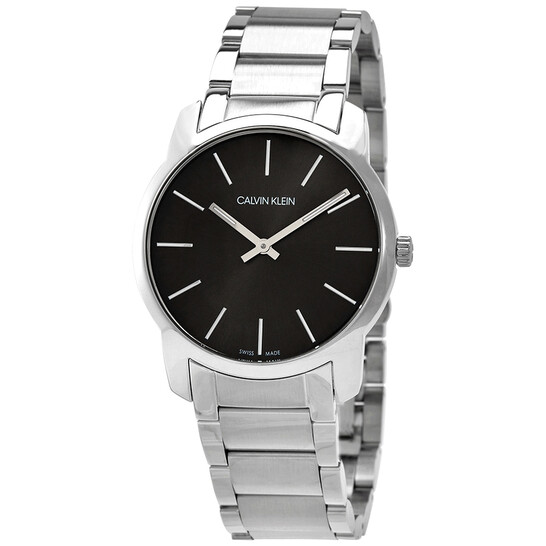 Calvin Klein City Extension Quartz Black Dial Unisex Watch K2G22143