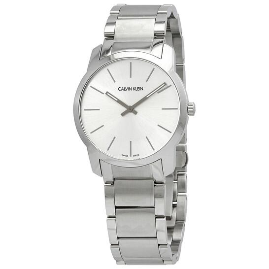 Calvin Klein City Extension Quartz Silver Dial Unisex Watch K2G22146