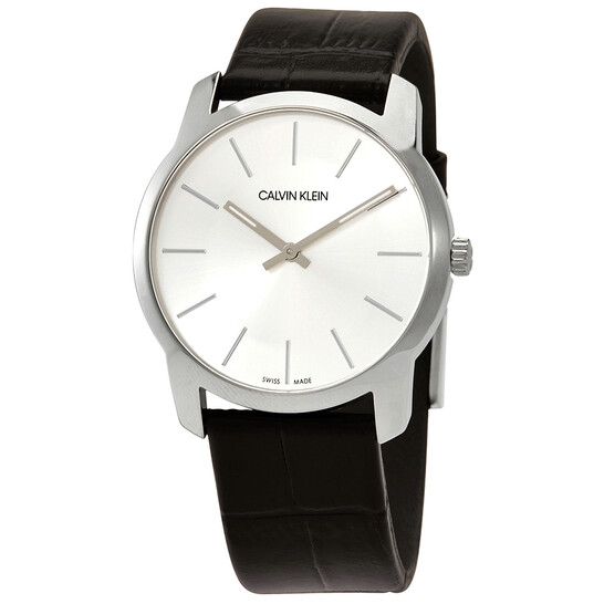 Calvin Klein City Extension Quartz Silver Dial Unisex Watch K2G221C6