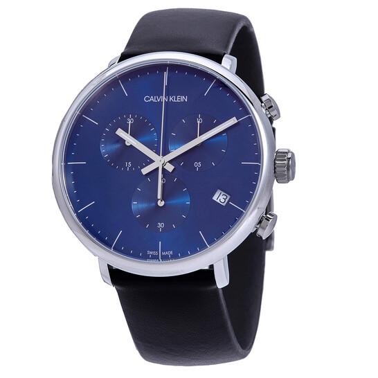 Calvin Klein High Noon Chronograph Quartz Blue Dial Mens Watch K8M271CN