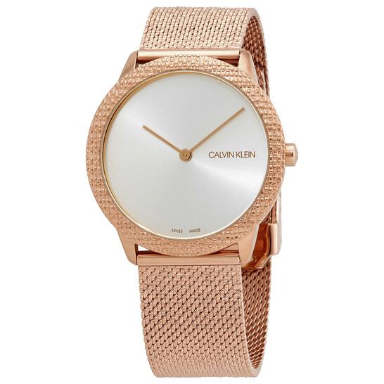 Calvin Klein Minimal Quartz Silver Dial Unisex Watch K3M22U26
