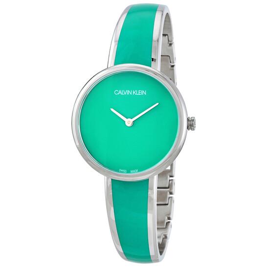 Calvin Klein Seduce Quartz Turquoise Dial Ladies Watch K4E2N11L   Joma Shop