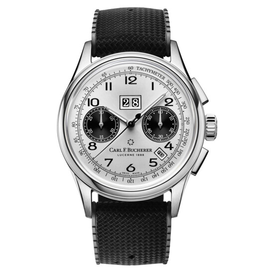 Carl F. Bucherer Heritage Chronograph Automatic Silver Dial Unisex Watch 00.10803.08.12.01 | Joma Shop