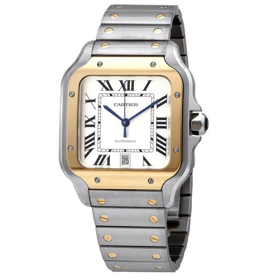 Cartier Santos Automatic Silver Dial Large Men's Watch W2SA0009   Joma Shop