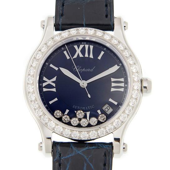 Chopard Happy Sport Automatic Diamond Blue Dial Ladies Watch 278559-3006   Joma Shop