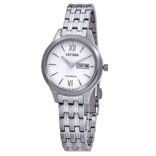 Citizen Automatic Day-Date Cream Dial Stainless Steel Ladies Watch PD7130-51A | Joma Shop