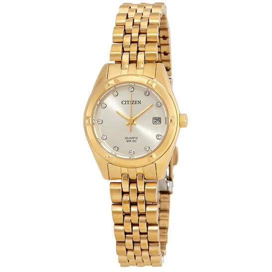 Citizen Champagne Dial Yellow Gold-tone Ladies Watch EU6052-53P | Joma Shop
