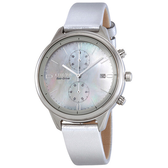 Citizen Chandler Chronograph White Mother of Pearl Dial Ladies Watch FB2000-03D | Joma Shop