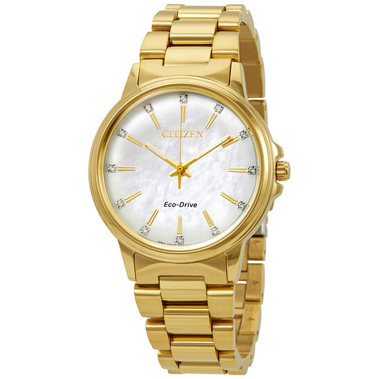 Citizen Chandler Diamond White Mother of Pearl Dial Ladies Watch FE7032-51D   Joma Shop