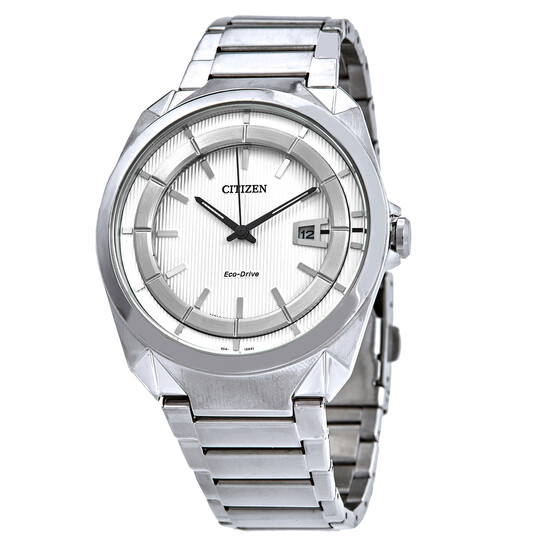 Citizen Eco-Drive White Dial Stainless Steel Men's Watch AW1010-57B   Joma Shop
