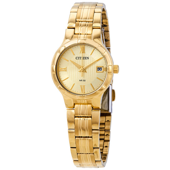 Citizen Gold Dial Ladies Watch EU6022-54P   Joma Shop