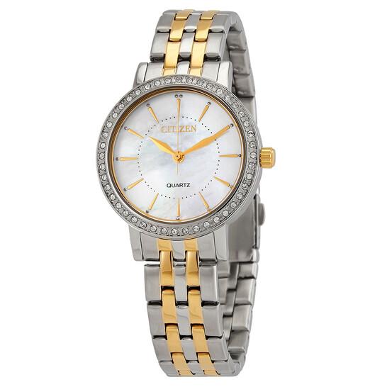 Citizen Mother of Pearl Dial Quartz Ladies Watch EL3044-89D   Joma Shop