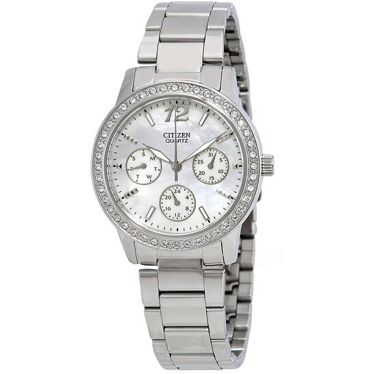 Citizen Mother of Pearl Dial Swarovski Crystals Ladies Watch ED8090-53D | Joma Shop