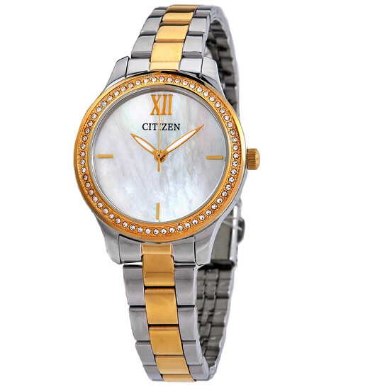 Citizen Mother of Pearl Dial Two-tone Ladies Watch EL3084-50D   Joma Shop