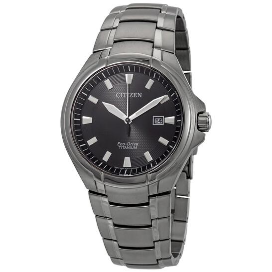 Citizen Paradigm Eco-Drive Grey Dial Titanium Men's Watch BM7431-51E | Joma Shop
