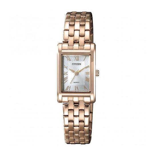 Citizen Quartz Silver Dial Ladies Rose Gold-tone Watch EJ6123-56A | Joma Shop