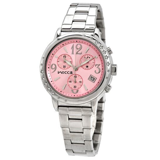 Citizen Wicca Chronograph Quartz Pink Dial Ladies Watch BM1-113-91 | Joma Shop