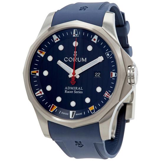 Corum Admirals Cup Racer Automatic Blue Dial Mens Titanium 47 mm Watch A411/04096