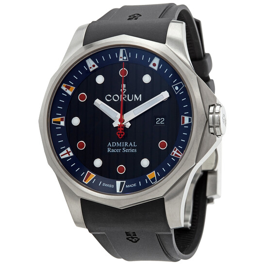 Corum Admirals Cup Racer Automatic Black Dial Mens Watch A411/04091
