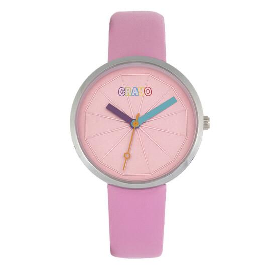 Crayo Metric Quartz Pink Dial Unisex Watch CRACR5804 | Joma Shop