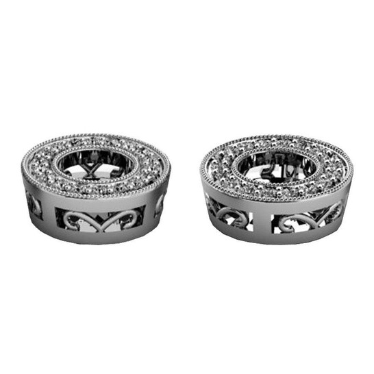 Dazzling Rock Dazzlingrock Collection 0.25 Carat (ctw) 14k Round White Diamond Removable Jackets For Stud Earrings, White Gold   Joma Shop