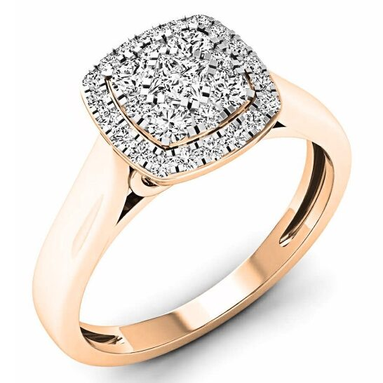 Dazzling Rock Dazzlingrock Collection 0.50 Carat (ctw) 10K White Diamond Ladies Cluster Engagement Ring 1/2 CT, Rose Gold, Size 7 | Joma Shop