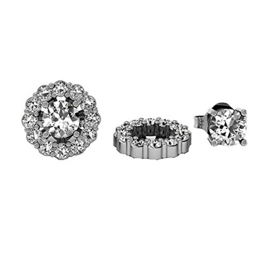 Dazzling Rock Dazzlingrock Collection 0.65 Carat (ctw) 14k Round White Diamond Cluster Style Removable Jackets for Stud Earrings, White Gold   Joma Shop