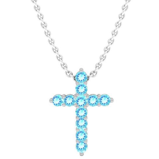 Dazzlingrock Collection Ladies Cross Dangle 14K Gold