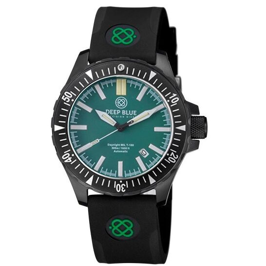 Deep Blue Daynight MIL T-100 Automatic Green Dial Unisex Watch MILT100PVDGREENBLUETUBES | Joma Shop