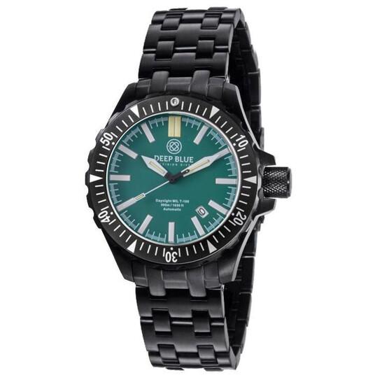 Deep Blue Daynight tritium Automatic Green Dial Unisex Watch MILT100PVDGREENBLUETUBESBRAC | Joma Shop