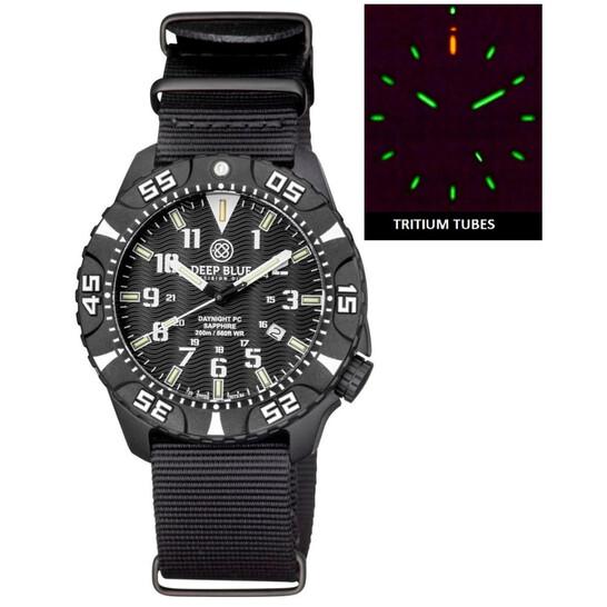 Deep Blue Daynight Tritium Black Dial Unisex Watch DAYNIGHTPC2WHITENATO   Joma Shop