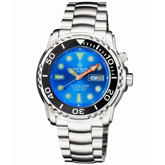 Deep Blue Pro Sea Diver 1000m Automatic Blue Dial Unisex Watch PSD1KLIGHTBLUE | Joma Shop