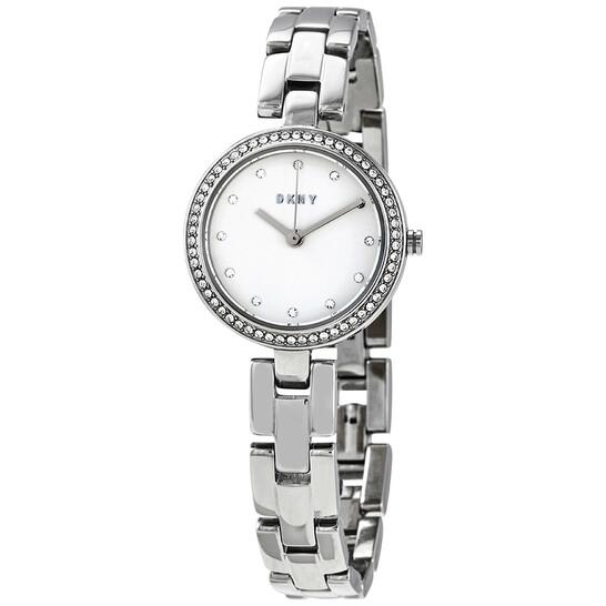 Dkny City Link Quartz Crystal Silver Dial Ladies Watch NY2824   Joma Shop