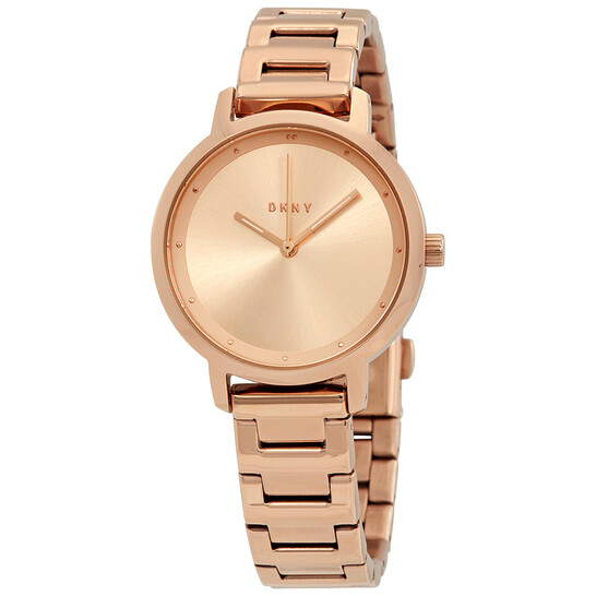 Dkny The Modernist Rose Sunray Dial Ladies Watch NY2637 | Joma Shop
