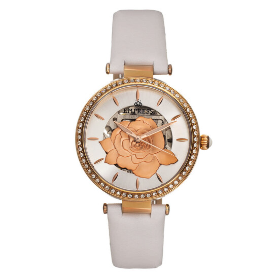 Empress Anne Automatic Silver Dial Ladies Watch EMPEM3104   Joma Shop