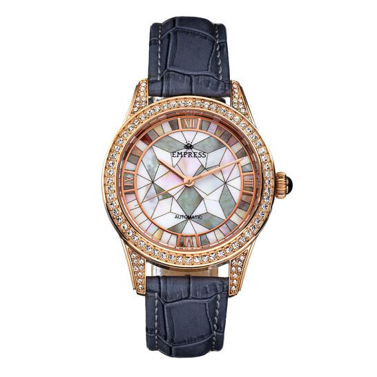 Empress Augusta Automatic Grey Dial Ladies Watch EMPEM3504 | Joma Shop