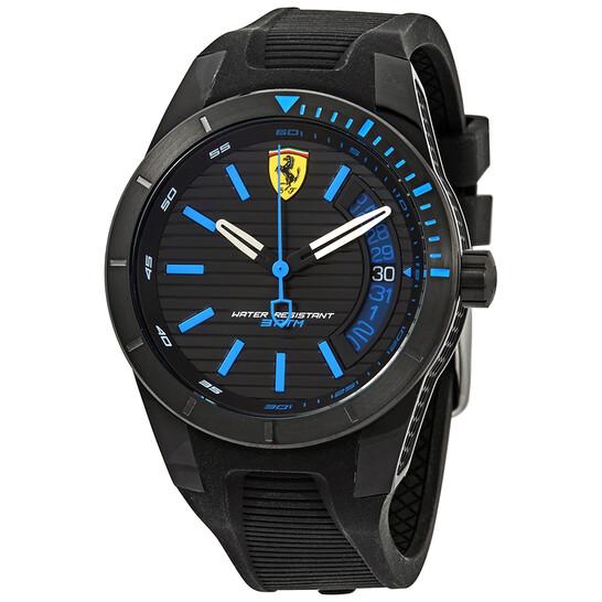 Ferrari Redrev T Black Blue Dial Men S Watch 830427 830427 Watches Ferrari Jomashop